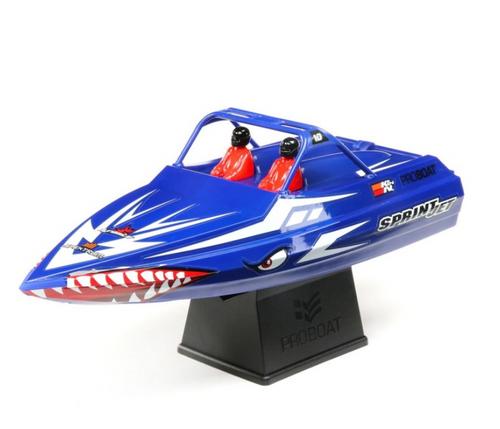 "Pro Boat Sprintjet 9"" Self-Righting Jet Boat Brushed RTR, Blue"