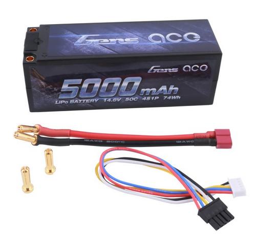 Gens- Ace 5000mAh 14.8V 50C 4S1P HardCase Lipo Battery