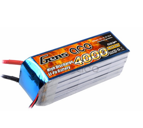 Gens-Ace 4000mAh 5S1P 25C 18.5V with EC5