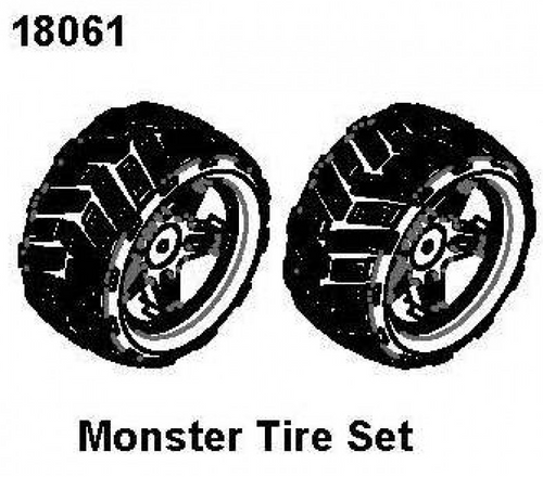 Monster Tire Pair RCPRO 1/18 MT