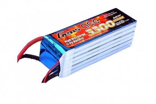 Gens-Ace 4S 14.8V 3300mAh 40C LiPo Battery with EC5 Connector