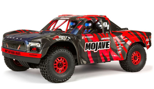 Arrma 1/7 MOJAVE 6S BLX 4WD Desert Racer with Spektrum RTR -Red