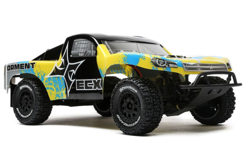 ECX 1/10 2wd Torment SCT Brushed, Lipo Battery & Peak Charger Yellow RTR