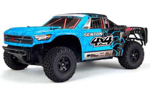 Arrma 1/10 Senton MEGA 550 Brushed 4WD Short Course Truck RTR -Blue/Black