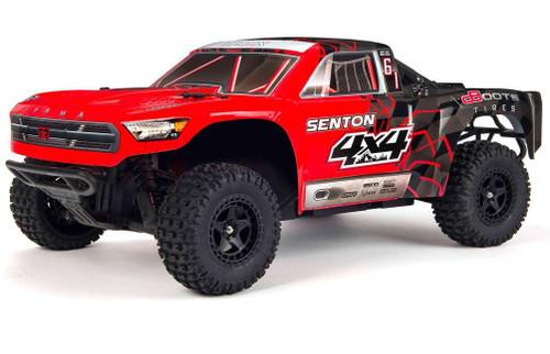 Arrma 1/10 Senton MEGA 550 Brushed 4WD Short Course Truck RTR -Red/Black