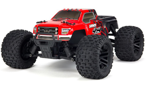 Arrma 1/10 GRANITE MEGA 550 Brushed 4WD Monster Truck RTR -Red/Black