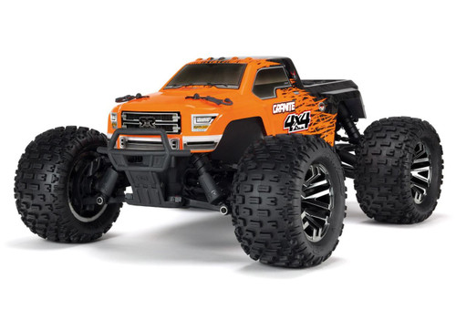 Arrma 1/10 GRANITE 3S BLX 4WD Brushless Monster Truck 50+MPH, Orange/Black