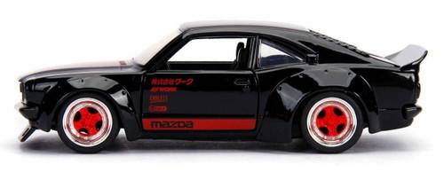 Jada 30717 1/24 JDM 1973 MAZDA RX3 BLACK WITH RED