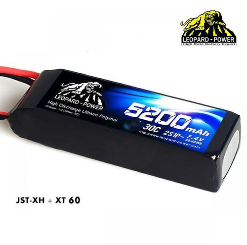 Leopard Power 2S 7.4v 5200mah 30c XT60 Lipo Battery