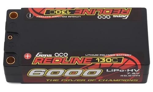 Gens-Ace 6000mAh Redline High Voltage 7.6V 130C Shorty LiPo Battery