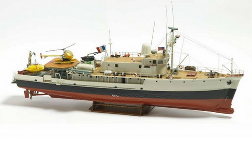 Billings Boats 1/45 Scale- Calypso Research Vessel R/C Capable Kit