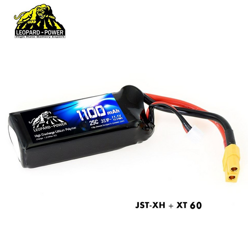 Leopard Power 3S 11.1v 1100mAh 25C LiPo Battery with XT60