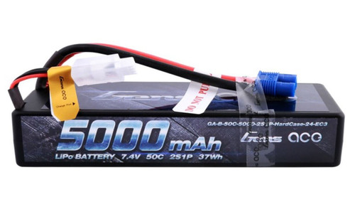 Gens-Ace 5000mAh 50C RC Car Hardcase LiPo Battery with EC5