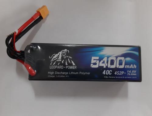 Leopard Power 4S 14.8 5400mAh 40C Hardcase LiPo Battery w/XT60