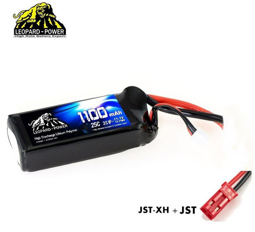 Leopard Power 3S 11.1v 1100mAh 25C LiPo Battery with JST
