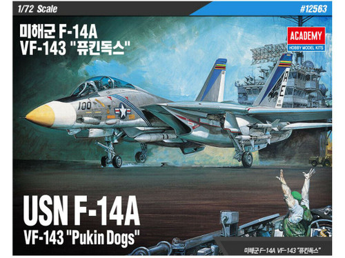 Academy 12563 1/72 Grumman F-14A VF-143 Pukin Dogs Model Kit