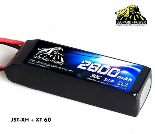Leopard Power 3S 11.1v 2600mAh 30c XT60 Lipo Battery