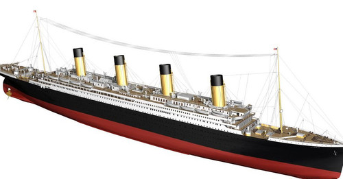 Billings Boats 1/144 Scale RMS Titanic R/C Capable