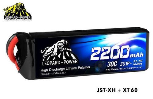 Leopard Power 3S 11.1v 2200mAh 30C LiPo Battery w/XT60