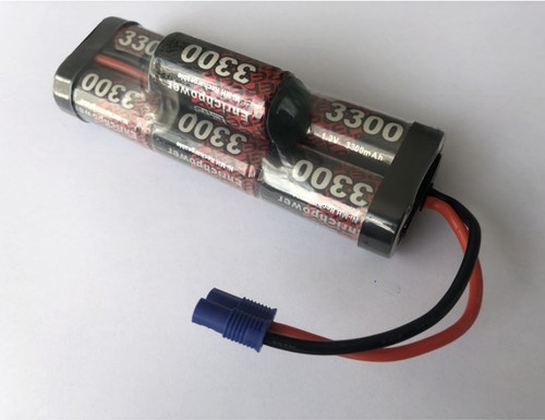 EP 8.4V NiMh 3300mAH Hump Pack Battery with EC3 Connector Suit ARRMA Mega 4x4 Senton & Granite