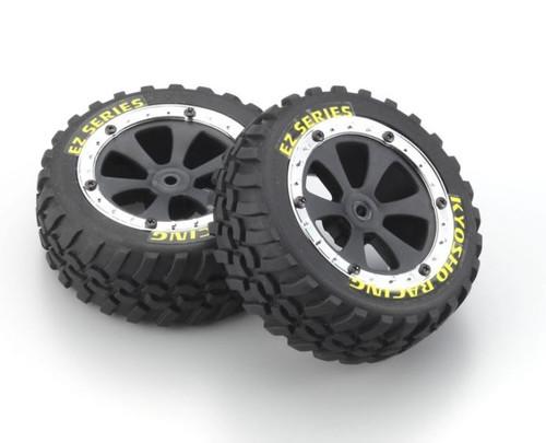 Kyosho EZ002 Tire & Wheel Set (SAND MASTER)