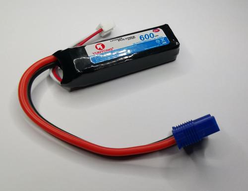 Yuntong DYNB6223 7.4V 600mAh 2S 20C LiPo EC3 Battery -Suits SprintJet