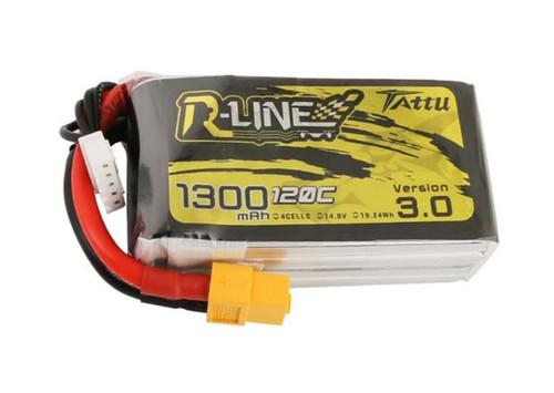 Tattu R Line 1300mah 4S 14.8V 120C Version 3.0 LiPo Battery