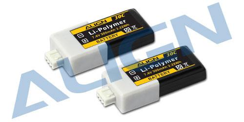 Align HBP03001T 300mAh 30C 2S1P LiPo Battery 2pcs