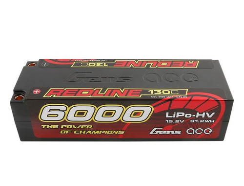 Gens-Ace 6000mAh 15.2v 130C HV 4S1P HardCase Redline Series