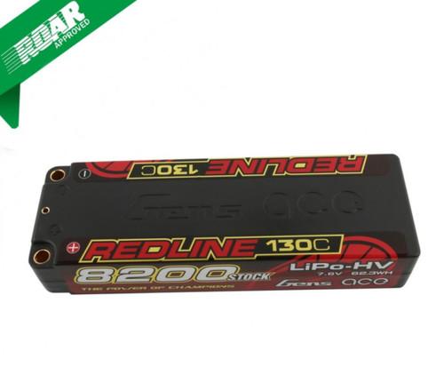 Gens-Ace 8200mAh 2S 7.6v 130C HV Redline Race Series LiPo Battery ROAR