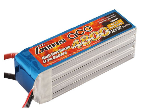Gens-Ace 4800mAh 18.5V 5S1P 18/36C F3A Competition LiPo Battery