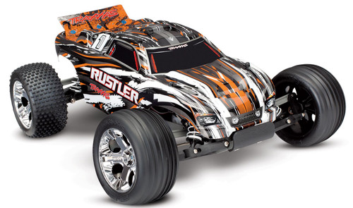 Traxxas 37054-1 Rustler XL-5 1/10 2WD RTR RC Stadium Truck Orange