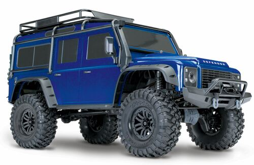 Traxxas 82056-4 TRX-4 1/10 Scale and Trail Defender RC Crawler RTR, Blue