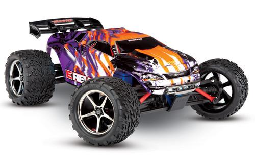Traxxas 71076-3 E-Revo VXL Brushless 1/16 4WD RTR RC Monster Truck with TSM Purple