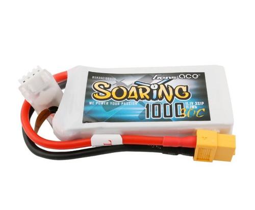 Gens-Ace 1000mAh 3S 11.1v 30C Soaring LiPo Battery w/XT60
