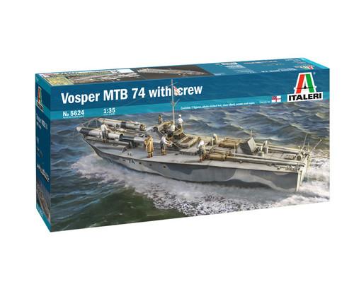 Italeri 1/35 Vosper MTB 74 w/Crew