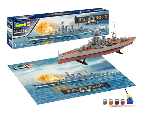 Revell 1/720 H.M.S Hood 100th Anniversary Edition Gift Set