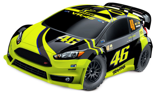 Traxxas 74064-1 1/10 Ford Fiesta ST Rally Car Valentino Rossi Edition