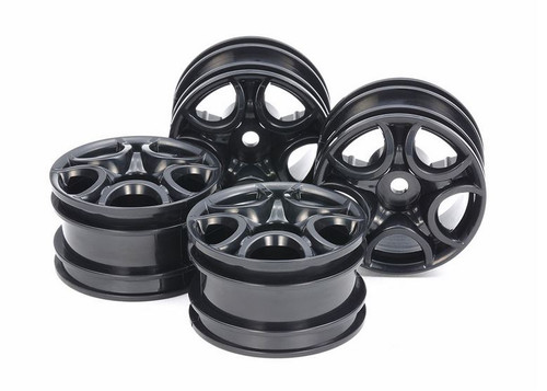 Tamiya 51659 C-Shaped 10-Spoke Wheels Black 4pcs