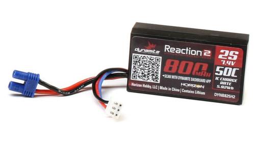 Dynamite 7.4V 800mAh 2S 50C Hardcase LiPo Battery w/EC2