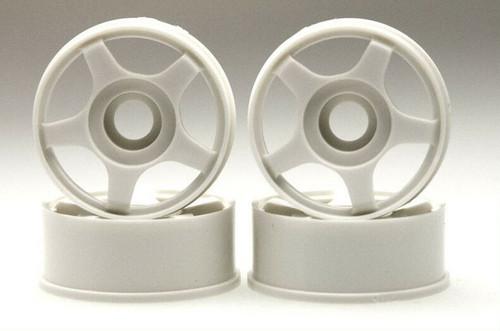 Kyosho MZ34 MINI-Z 5-Spoke Deep Dish White Wheel Set