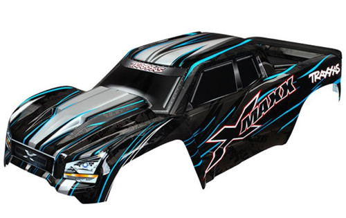 Traxxas 7711A - Body, X-Maxx, Blue (Assembled With Front & Rear Body Mounts, Rear Body Support, And Tailgate Protector)