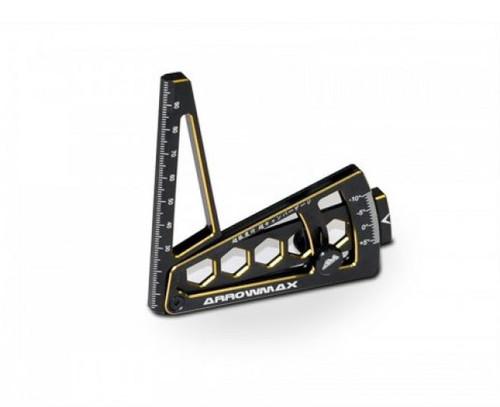 Arrowmax 1/10 Ultra Camber Gauge Black/Gold