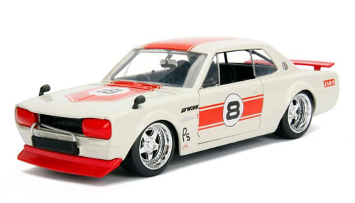 Jada 1/24 1971 JDM Nissan Skyline 2000 GT-R Cream/Red