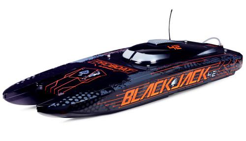 "Blackjack 42"" 8S Brushless Catamaran RTR Black/Orange"