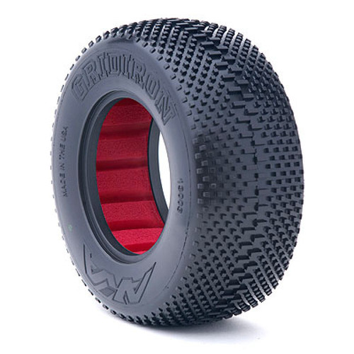 AKA 13003VR 1/10 Short Course Gridiron Super Soft Tyres w/Red Insert