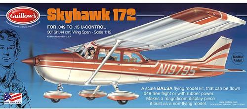 "Guillows 1/12 Cessna Skyhawk 172 36"" Balsa Flying Model Kit"