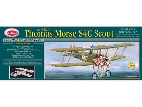 """Guillows 1/12 WW1 Thomas Morse Scout 24"""" Balsa Flying Model Kit"""