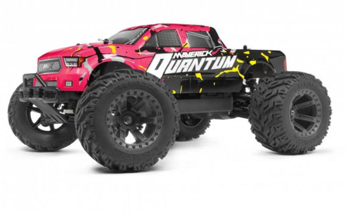 Maverick 1/10 Quantum MT 4WD Brushed RC Monster Truck Pink