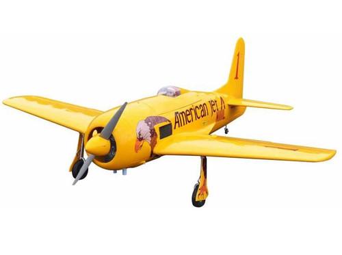 "Seagull F8F Bearcat Conquest I Yellow Reno Racer 71"" ARF Kit"